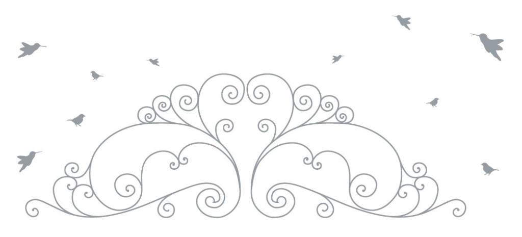 דוגמא לשימוש בעיצובים של הבלוג והדפעם, עם הציפורים הקטנות