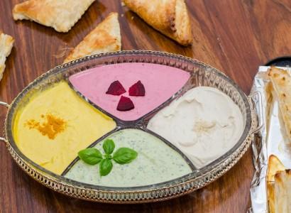 טחינה בצבעים טבעוני טחינה סלק טחינה בזיליקום טחינה כורכום