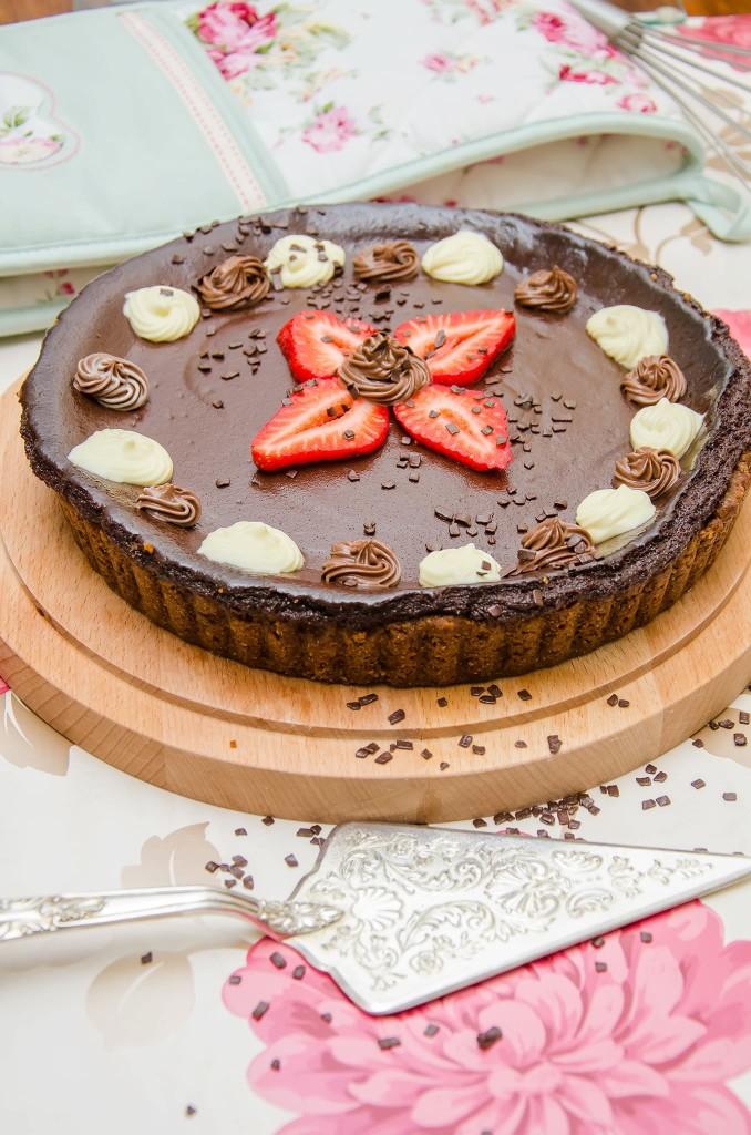 פאי שוקולד שרי טבעוני