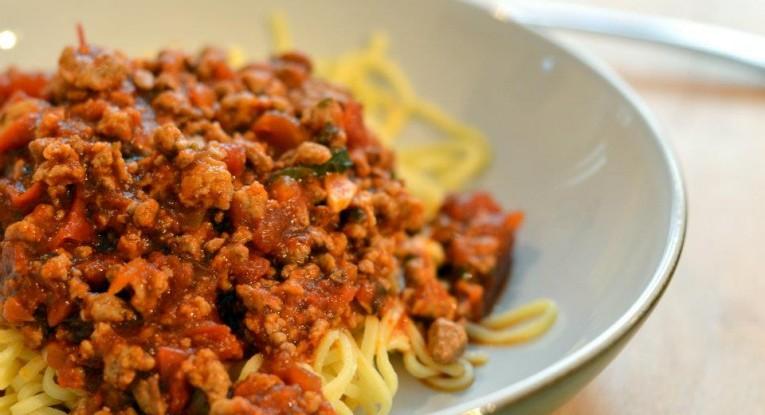 ספגטי בולונז טבעוני סויה