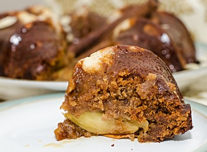 מתכון pudding dessert vegan טבעוניות קינוח עוגת דבש ותפוחים טבעונית