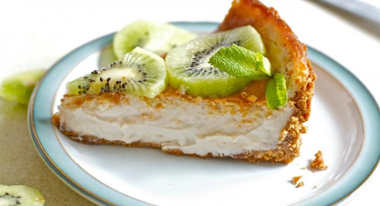 מתכון pudding dessert vegan טבעוניות קינוח עוגת גבינה טבעונית עם קיווי