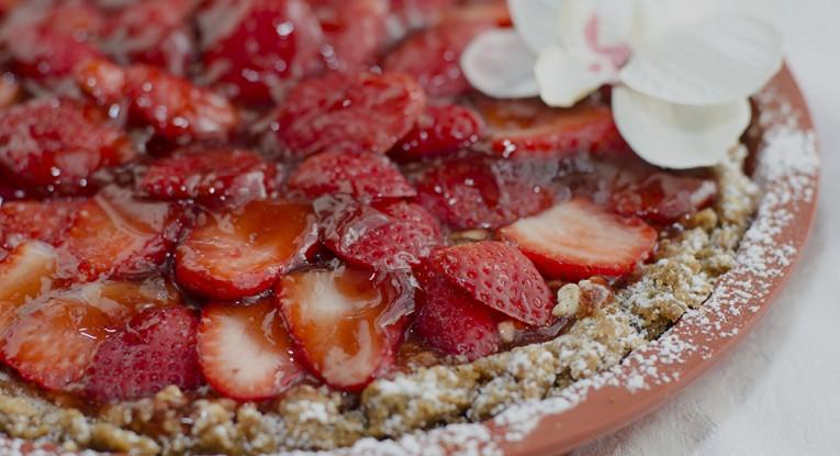 pudding dessert vegan קינוח תותים טבעוני פאי תותים