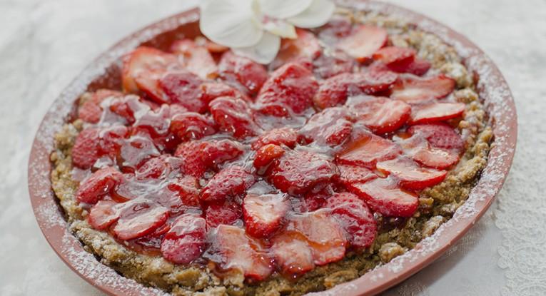 pudding dessert vegan קינוח טארט תותים טבעוני פאי תותים