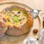 לחם ממולא בפטריות טבעוני לחמניית ערמונים מרק פטריות קרם פטריות