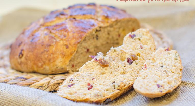 לחם אגוזים פקאן אוכמניות חיטה מלאה