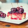 עוגת גבינה עם דובדבנים טבעוני טבעונות טפינה סויה וניל