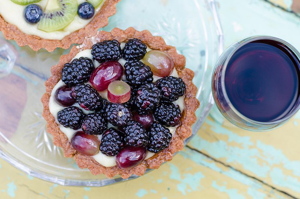 טארט וניל טבעוני פירות טבעונות
