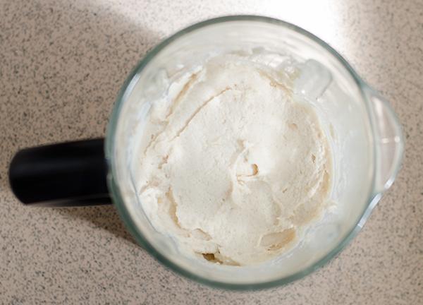 ממרח שעועית לימה בובס רחבה לבנה עם זיתים קלמנטה טבעוני טבעונות