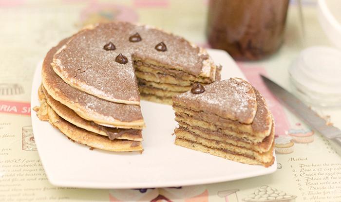 עוגת פנקייק שוקולד טבעוני טבעונות