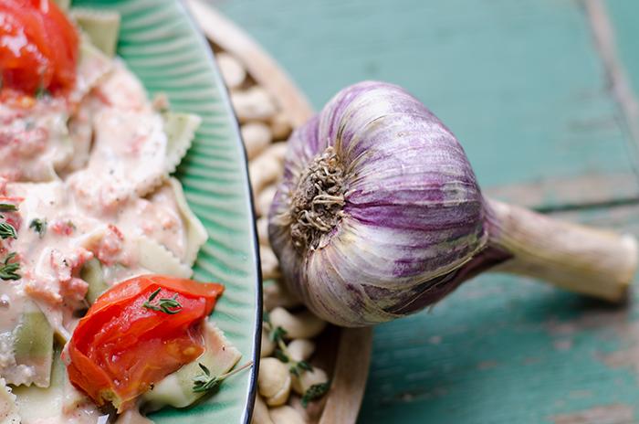 פסטה ברוטב קרם קשיו טבעוני
