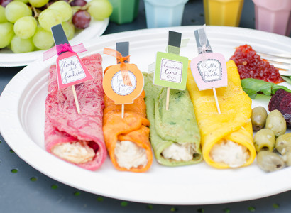 ארוחת בוקר טבעונית צבעונית